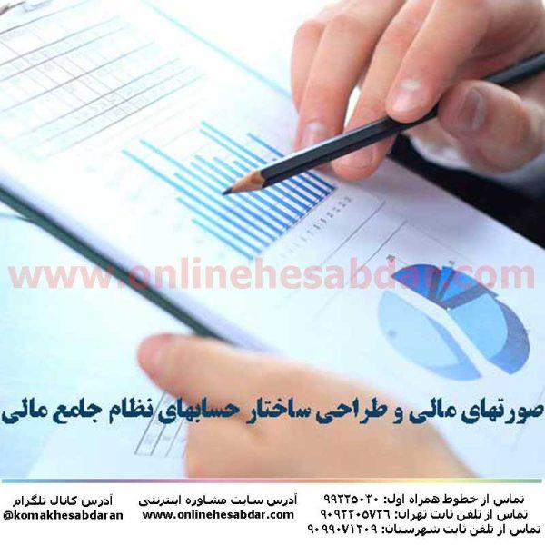 کتاب تهيه صورتهای مالی و طراحی ساختار حسابهای نظام جامع مالی